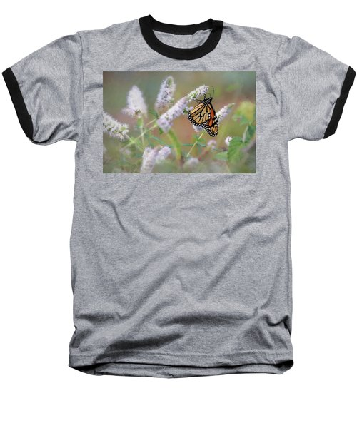 Baseball T-Shirt featuring the photograph Monarch On Mint 2 by Lori Deiter