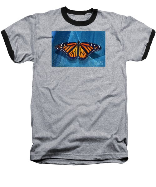 Baseball T-Shirt featuring the photograph Monarch Royalty by Lew Davis