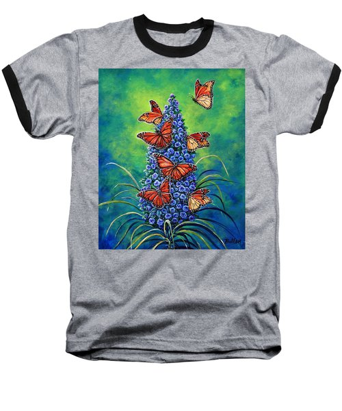 Monarch Waystation Baseball T-Shirt by Gail Butler