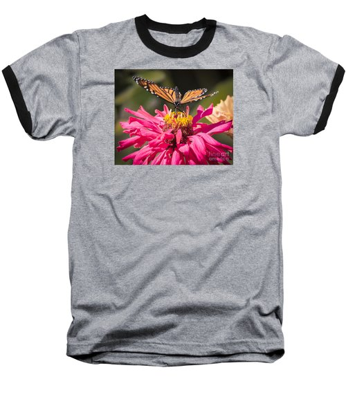 Baseball T-Shirt featuring the photograph Monarch On The Last Days Of Summer by Ricky L Jones