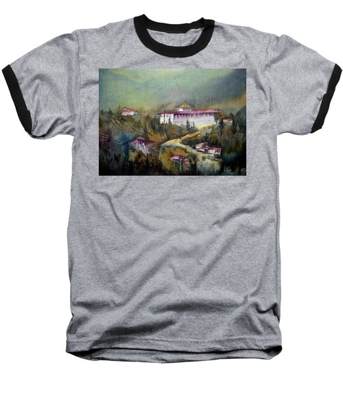 Monastery In Mountain Baseball T-Shirt by Samiran Sarkar