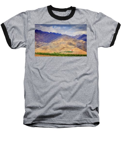 Baseball T-Shirt featuring the photograph Monastery In The Mountains by Alexey Stiop