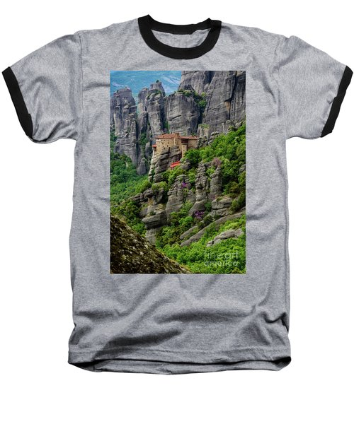 Monastery Of Saint Nicholas Of Anapafsas, Meteora, Greece Baseball T-Shirt