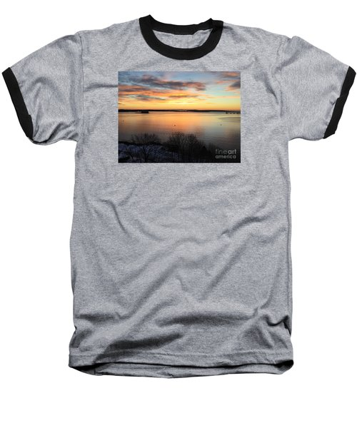 Monday, Monday Sunrise January 25, 2016 Baseball T-Shirt by Patricia E Sundik