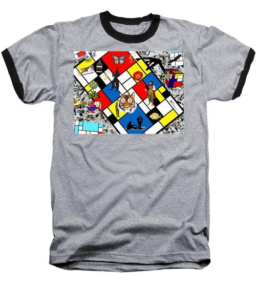 Mondrian Nightmare Baseball T-Shirt