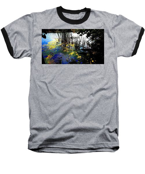 Monet Ice Age Pond Baseball T-Shirt