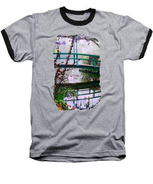 Baseball T-Shirt featuring the photograph Monet's Bridge by Jim Hill