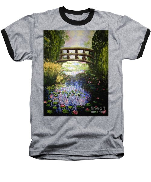 Monet's Bridge Baseball T-Shirt