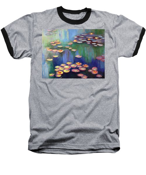 Monet's Lily Pads Baseball T-Shirt