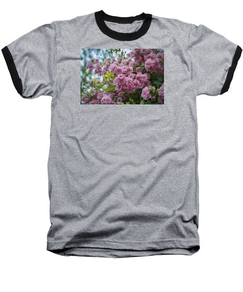 Monet's Roses Baseball T-Shirt