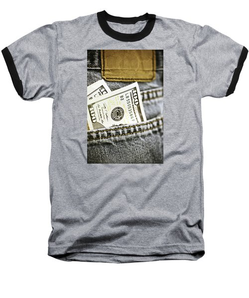 Baseball T-Shirt featuring the photograph Money Jeans by Trish Mistric