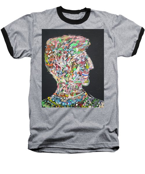 Baseball T-Shirt featuring the painting Money,sex And Power by Fabrizio Cassetta