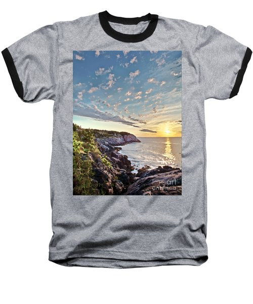 Baseball T-Shirt featuring the photograph Monhegan East Shore by Tom Cameron