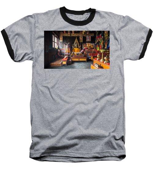 Kathmandu Monk Baseball T-Shirt by Marty Garland