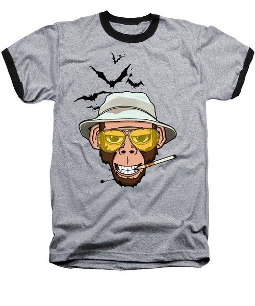 Monkey Business In Las Vegas Baseball T-Shirt by Nicklas Gustafsson
