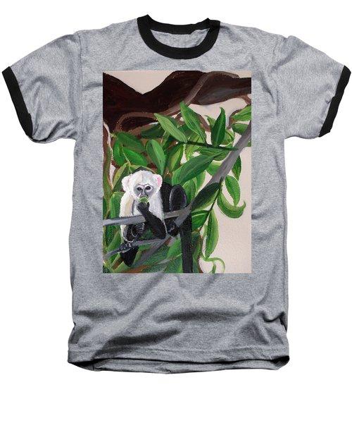 Monkey Detail 2 From Mural Baseball T-Shirt