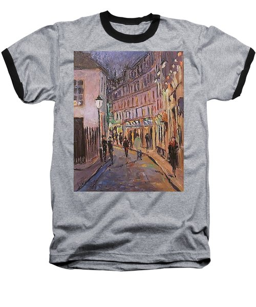 Baseball T-Shirt featuring the painting Monmartre by Walter Casaravilla