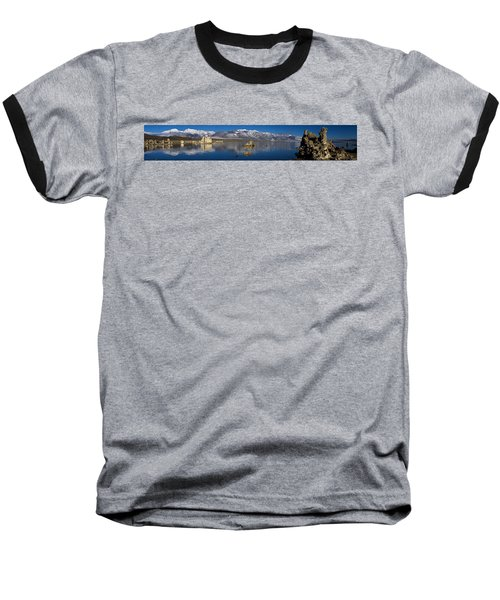 Mono Lake Pano Baseball T-Shirt by Wes and Dotty Weber