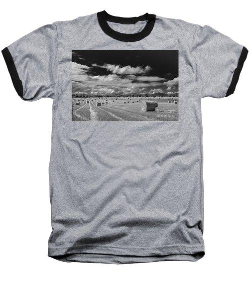 Mono Straw Bales Baseball T-Shirt