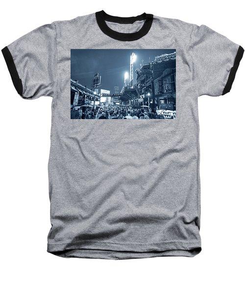 Monochrome Blue Nights Boston Ma Lansdowne St Fenway Park Game Night Baseball T-Shirt