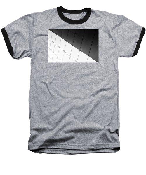 Monochrome Building Abstract 3 Baseball T-Shirt by John Williams