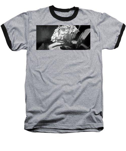 Monochrome Flora Baseball T-Shirt