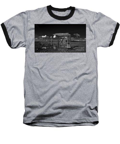 Monochrome Groynes Baseball T-Shirt