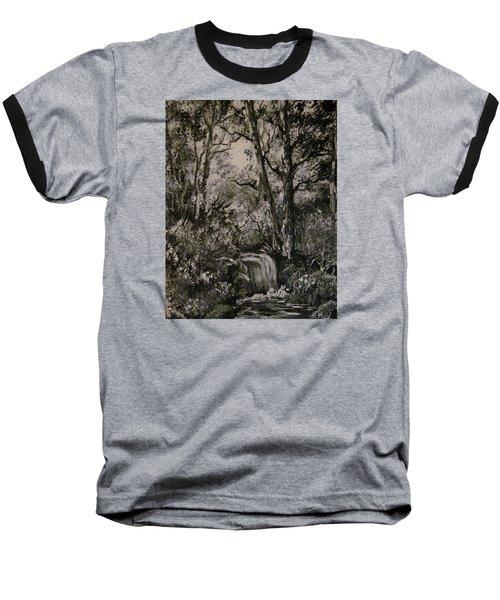 Monochrome Landscape 2 Baseball T-Shirt