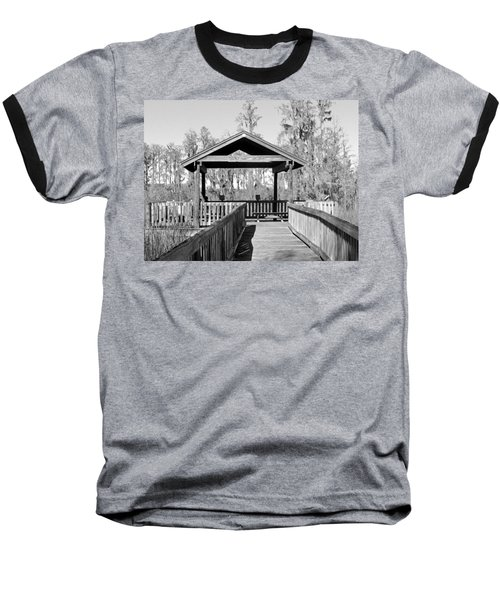 Monochrome Osprey Overlook Shelter Baseball T-Shirt