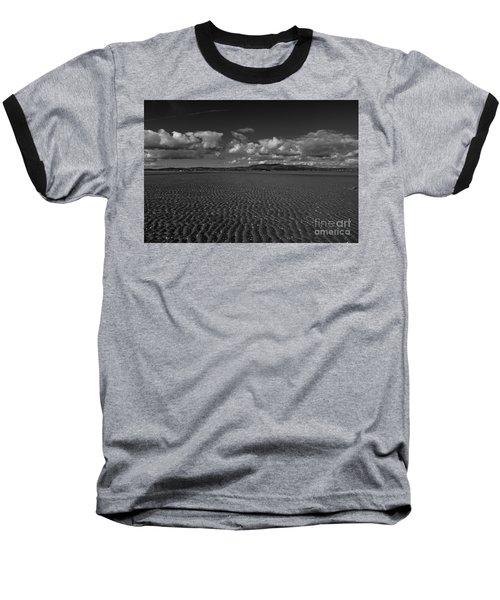 Monochrome Sand Ripples Baseball T-Shirt