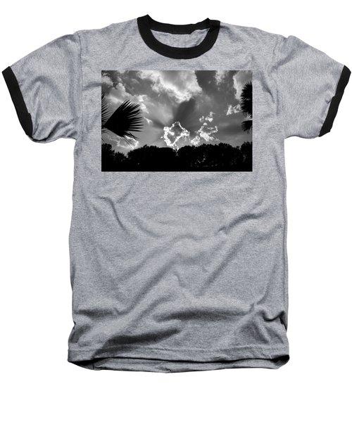 Monochrome Sunburst Baseball T-Shirt