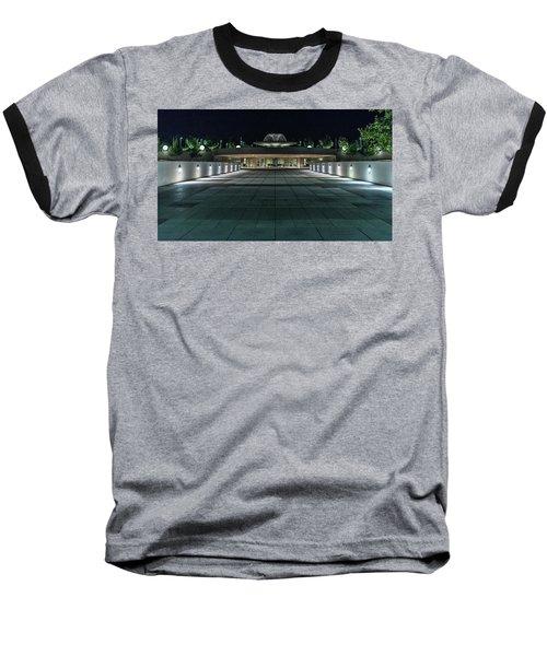 Monona Terrace Baseball T-Shirt by Randy Scherkenbach