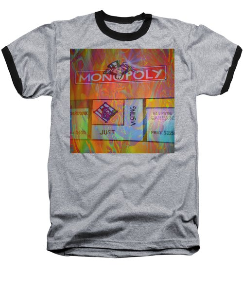 Baseball T-Shirt featuring the mixed media Monopoly Dream by Kevin Caudill