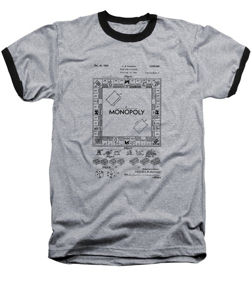Monopoly Original Patent Art Drawing T-shirt Baseball T-Shirt