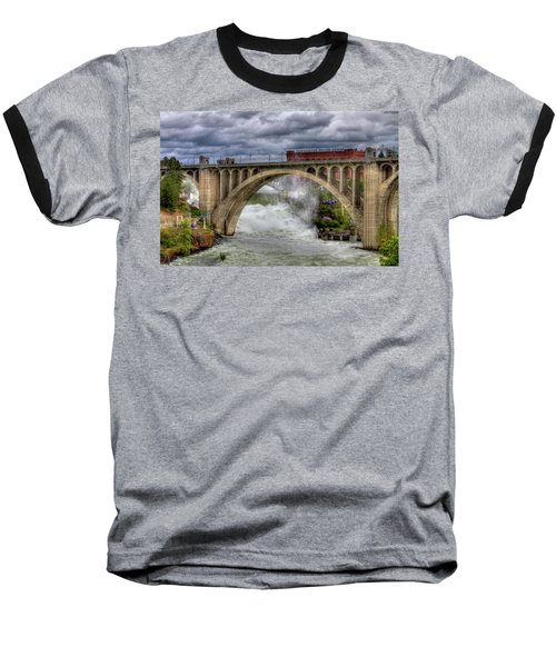 Monroe Street Bridge Spokane Baseball T-Shirt