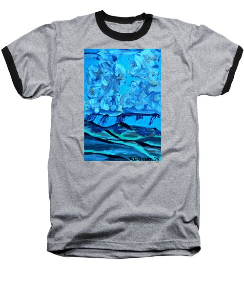 Baseball T-Shirt featuring the painting Monsoon Desert Storms IIi by Carolina Liechtenstein