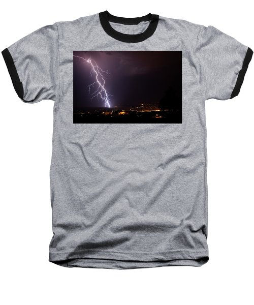 Monsoon Storm Baseball T-Shirt by Ron Chilston