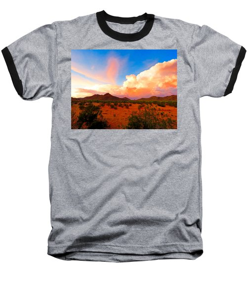 Monsoon Storm Sunset Baseball T-Shirt
