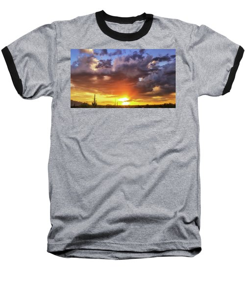Monsoon Sunset Baseball T-Shirt