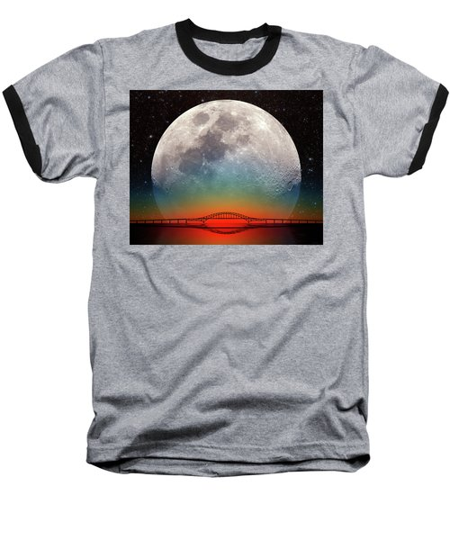Baseball T-Shirt featuring the photograph Monster Moonrise by Larry Landolfi