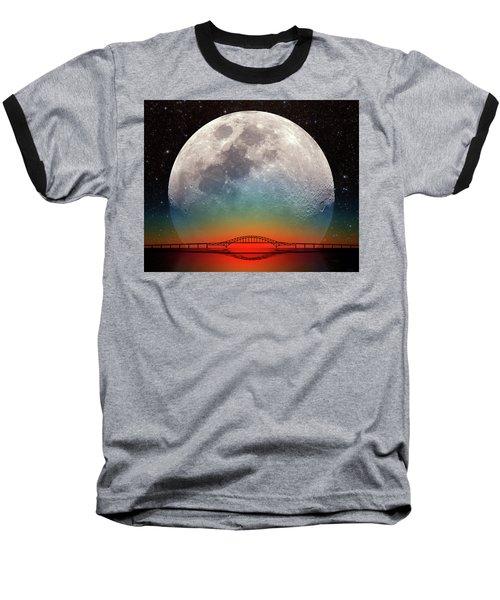 Monster Moonrise Baseball T-Shirt