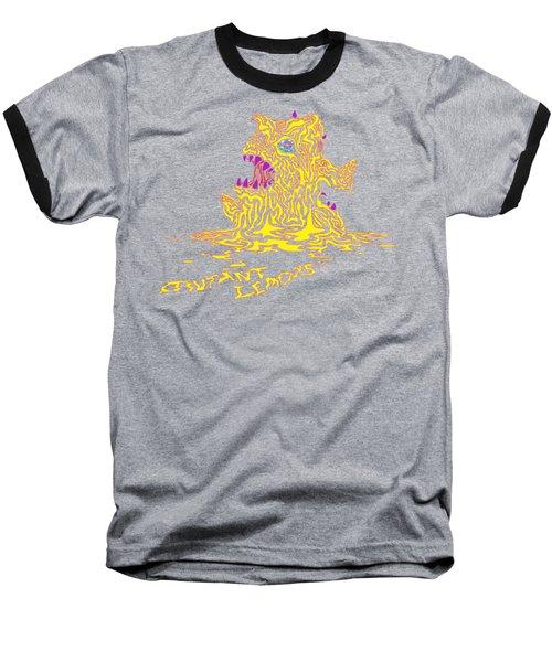 Monster Mutant Lemon Baseball T-Shirt by Jordan Kotter