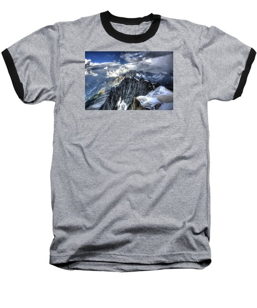 Baseball T-Shirt featuring the photograph Mont Blanc Near Chamonix In French Alps by Shawn Everhart