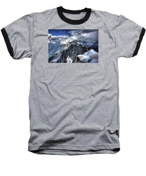 Mont Blanc Near Chamonix In French Alps Baseball T-Shirt by Shawn Everhart
