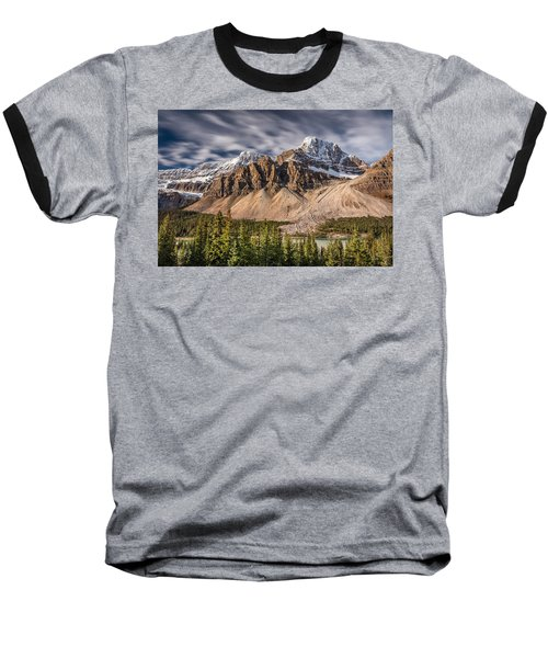 Baseball T-Shirt featuring the photograph Mont Crowfoot On The Icefield Parkway by Pierre Leclerc Photography