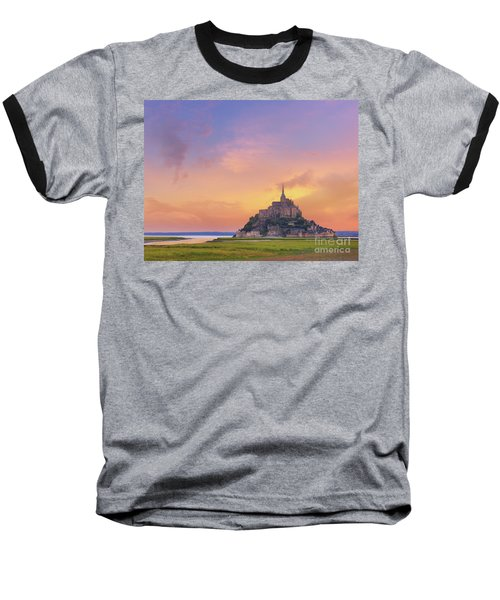 Mont-saint-michel At Dawn Baseball T-Shirt