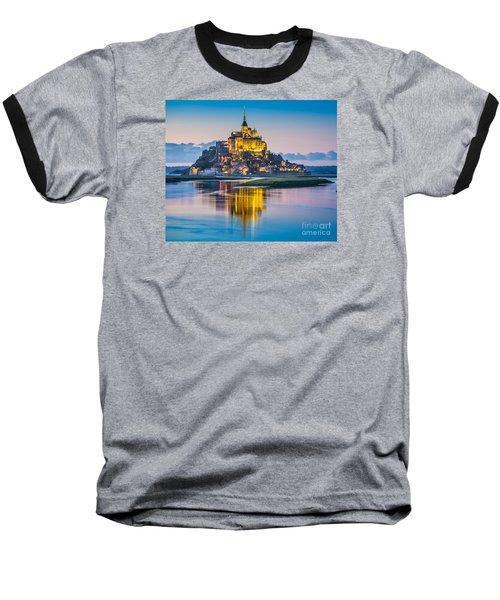 Mont Saint-michel In Twilight Baseball T-Shirt by JR Photography