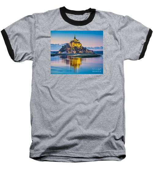 Mont Saint-michel In Twilight Baseball T-Shirt