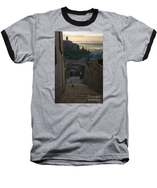 Montalcino City Baseball T-Shirt by Yuri Santin