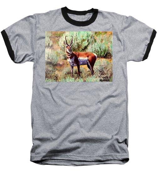 Montana Antelope Buck  Baseball T-Shirt